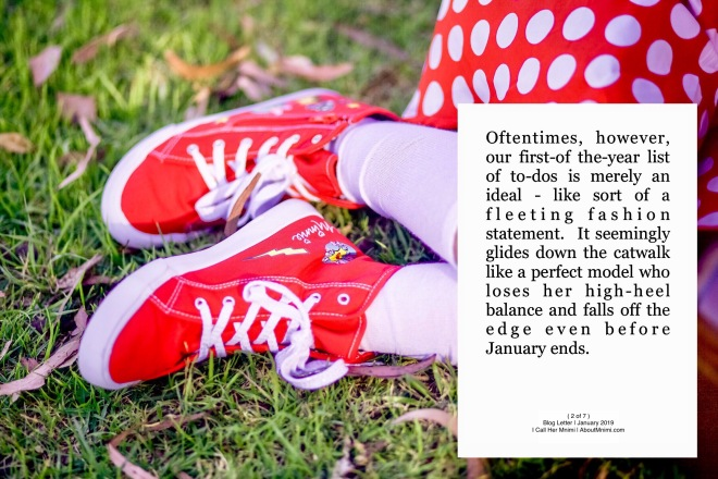 Young Mnimi girl's new pair of red sneakers matching her white-over-red polka-dot skirt
